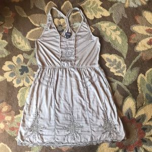 American Eagle Outfitters Size Medium Tan Dress
